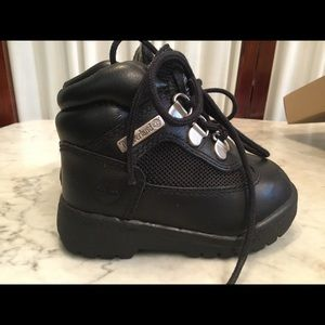Black infant Timberland boots